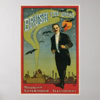 ~ de brosse la Loi magique vintage de grand magici Posters