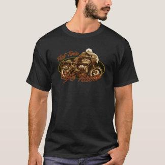 De café de coureur jumeau à plat t-shirt