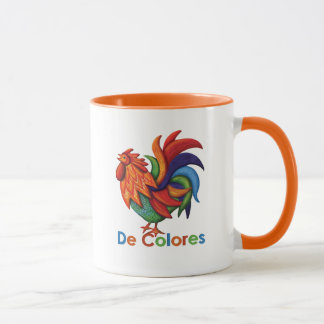 De Colores Rooster Gallo 11 Unze-Wecker-Tasse Tasse