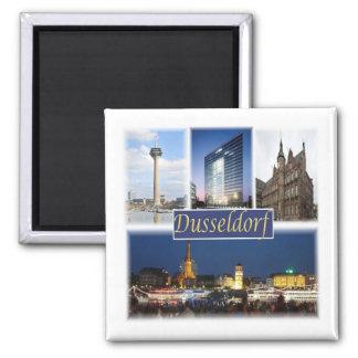 De * Deutschland - Dusseldorf Quadratischer Magnet
