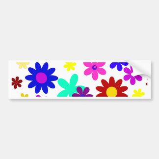 ~ de FLOWER POWER (a choisi une couleur d'arrière Autocollant De Voiture