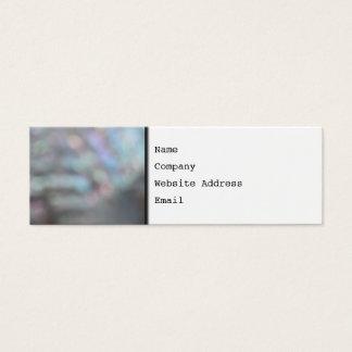 De-fokussiertes Muschel-Bild Mini Visitenkarte