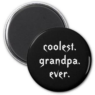 De grand-papa le plus frais l'aimant jamais magnet rond 8 cm