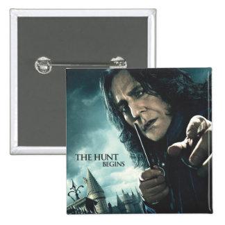 De mort sanctifie - Snape 2 Badge Carré 5 Cm