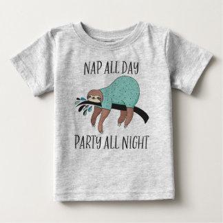 De petit somme paresse toute la nuit mignonne de t-shirt pour bébé
