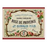 De Provance rose un parfum français Cartes Postales