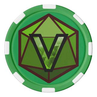 DEADLANDS - Grüner Team-Poker-Chip Poker Chips Set