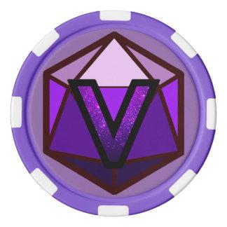 DEADLANDS - Lila Team-Poker-Chip Poker Chips Set
