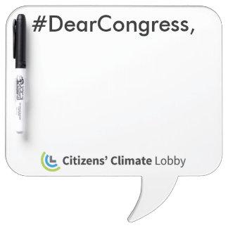 #DearCongress Sprache-Blasen-trockenes Whiteboard