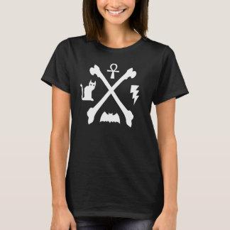 Deathrock Goth Miezekatze-Katze Ankh T-Shirt
