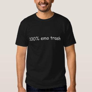 Déchets 100% d'Emo dans le T-shirt noir