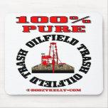 Déchets purs de gisement de pétrole de 100%, plate tapis de souris