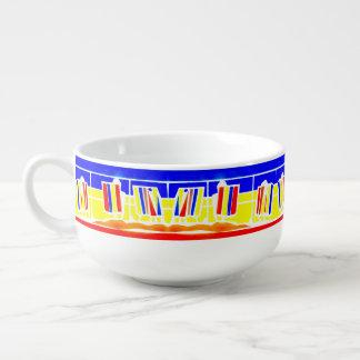 Deckchairs Promenaden-Küste-Suppen-Tasse Große Suppentasse