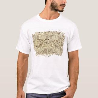 Deckel einer Schatulle, die ein Turnier darstellt T-Shirt