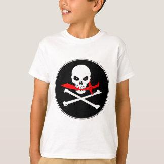 Deckel-T - Shirt der Piratenflagge-(Machete)
