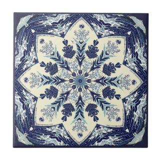 Deconstructed große blaue keramikfliese