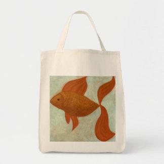 Décrivez un sac d'épicerie organique de poissons