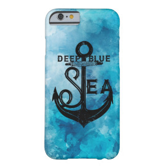 Deep ist blue nautical beautiful heiratet barely there iPhone 6 hülle