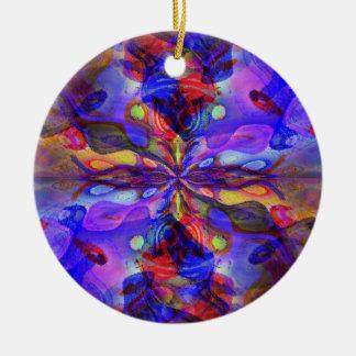 Deep Purple Rundes Keramik Ornament