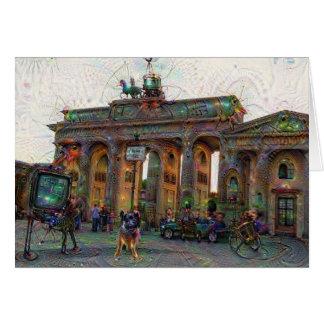 DeepDream Städte, Brandenburger Tor, Berlin Karte