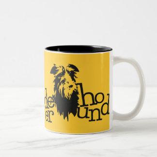 Deerhound-Becher Zweifarbige Tasse