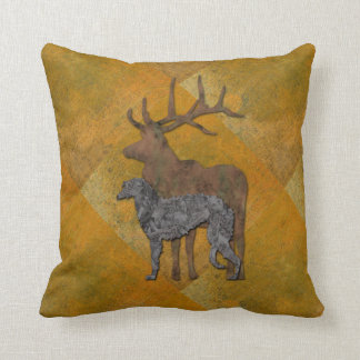 Deerhound & deer kissen