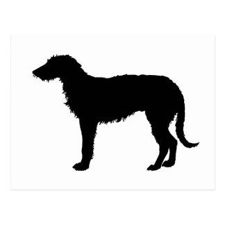 Deerhound Silhouette Postkarte