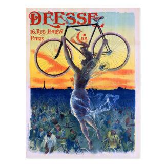 Déesse fährt 1898 Vintages Werbungs-Plakat rad Postkarte