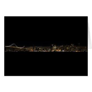 Defekte Bucht-Brücke nachts Karte
