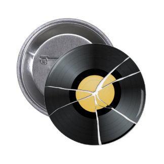 Defekte Vinylaufzeichnung Runder Button 5,1 Cm