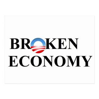 Defekte Wirtschaft Postkarte