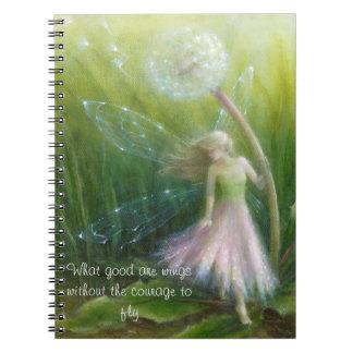 Defektes Flügelnotizbuch durch Lynne Bellchamber Notizblock