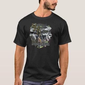 Defektes Halo-Bulldoggen-Logo T-Shirt