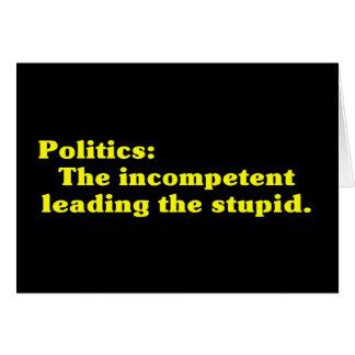 Definition der Politik Grußkarte