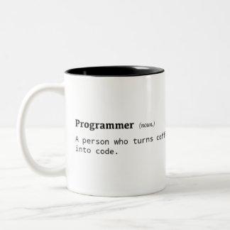 Definition der Programmierer Zwei-Ton Kaffee-Tasse Zweifarbige Tasse