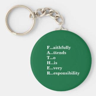 Definition eines Vaters Standard Runder Schlüsselanhänger