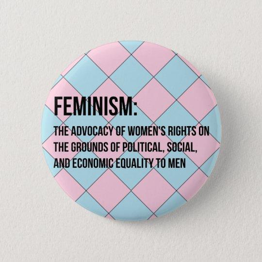 Definition von Feminismus Runder Button 5,7 Cm