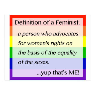 Definition von Feminismus… Yup, das ich ist Postkarte