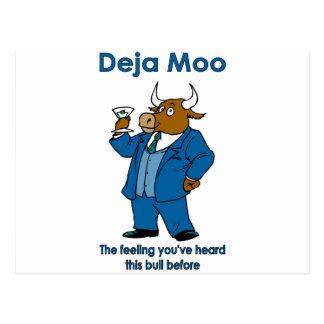 Deja MOO: Das Gefühl haben Sie diesen Stier vorher Postkarte