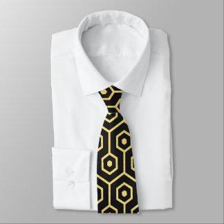 Dekomustergoldschwarz-Krawatte der eleganten Kunst Krawatte