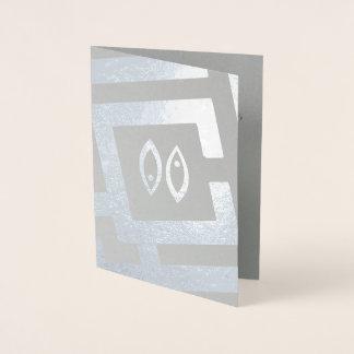 Dekor-Gewohnheits-Text astrologisches Folienkarte