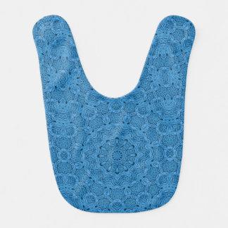Dekorative blaue Vintage bunte Baby-Schellfische Lätzchen