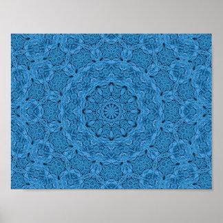 Dekorative blaue Vintage bunte Plakate