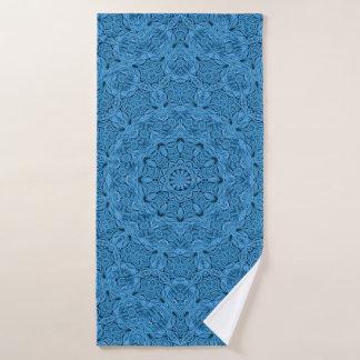 Dekorative blaue Vintage Kaleidoskop-Bad-Tücher Badehandtuch