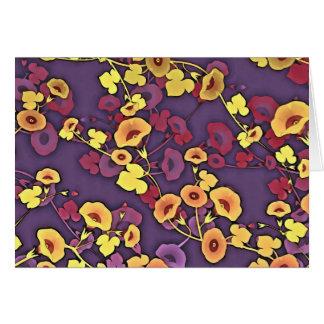 Dekorative Blumen in den Multi-Farben Karte