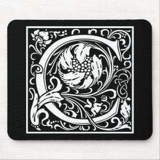 "Dekorative Buchstabe-Initiale ""C"" Mousepads"