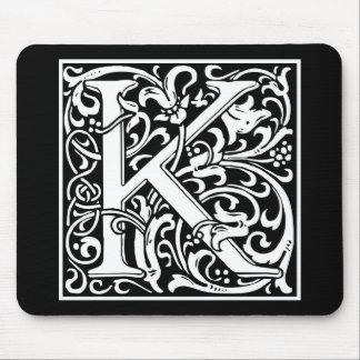 "Dekorative Buchstabe-Initiale ""K"" Mauspad"