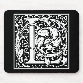 """Dekorative Buchstabe-Initiale """"L"""" Mauspads"""