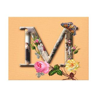 "Dekorative Buchstabe-Initiale ""M"" Leinwanddruck"