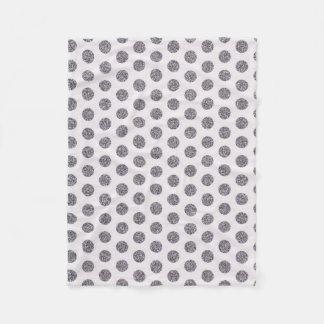 Dekorative Decke Fleece des Polkapunkt-Silbers